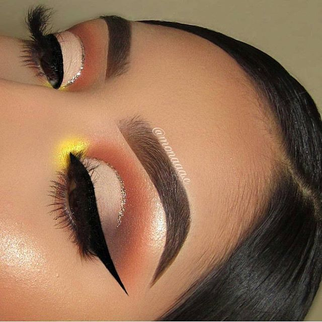 Warm toned eye makeup