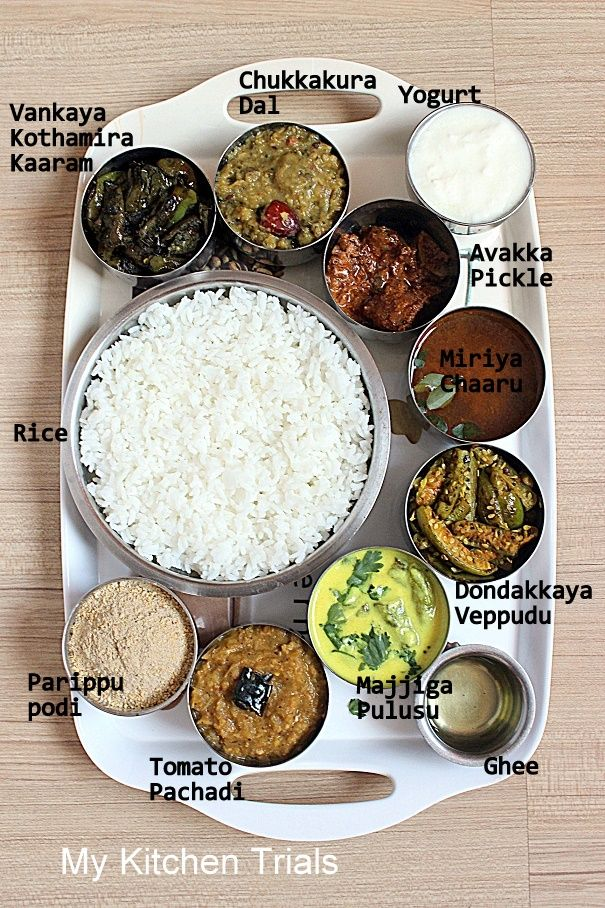 Andhra Thali Meals Indian food recipes, Indian food