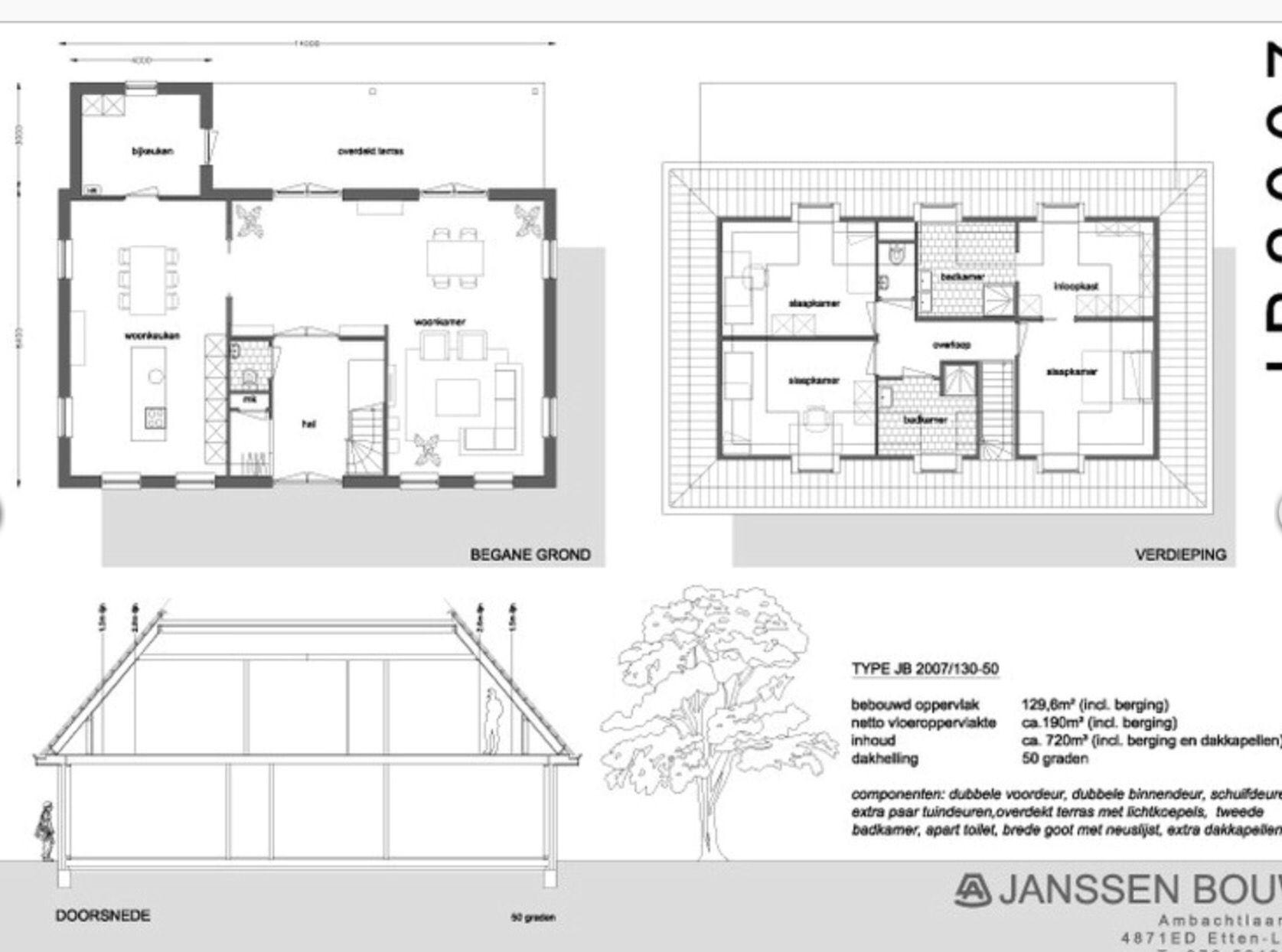 Floor plan notariswoning huis pinterest for Plattegrond woning indeling