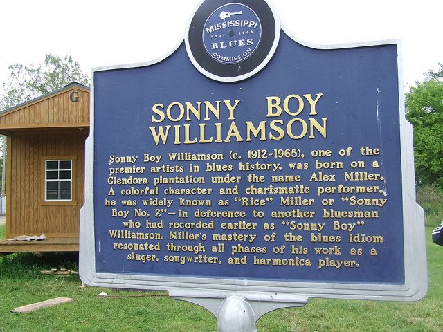 Sonny Boy Williamson II | Sonny Boy Williamson  The famed musician was born on a plantation in Glendora. Sonny Boy had a great influence on the musicians of the 1960's. His birth name was Alex Miller. During his career he used the name Sonny Boy Williamson, which was already in use by a blues musician in Jackson, Tenn. This one is called Sonny Boy II.