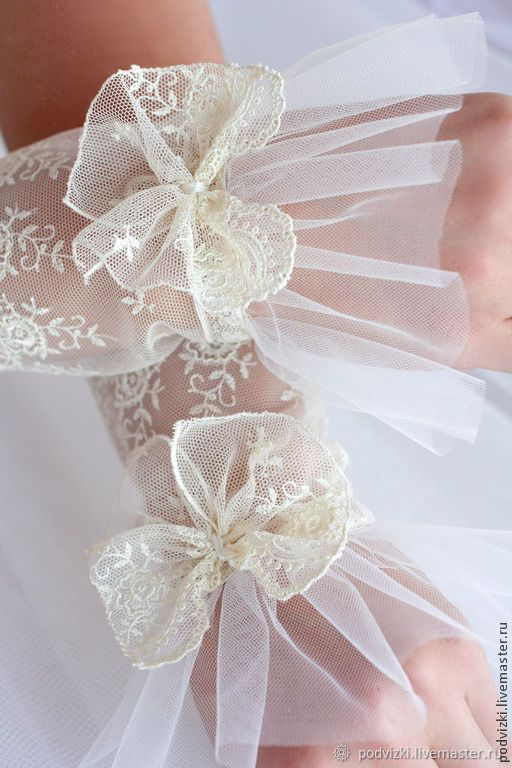 Photo of Wedding gloves, lace cuffs – buy at the Fair of Masters – 4 …