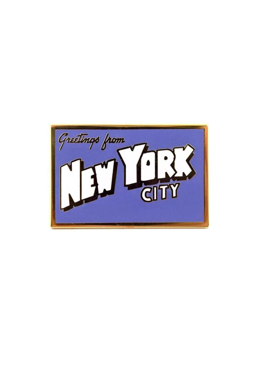 1.25 inch hard enamel pin.   Greetings Pin by Valley Cruise Press. Accessories New Jersey