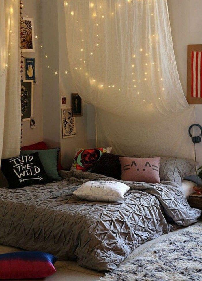 Interiors · Wohneinrichtung Ideen Jugendzimmer Dekokissen Lichter