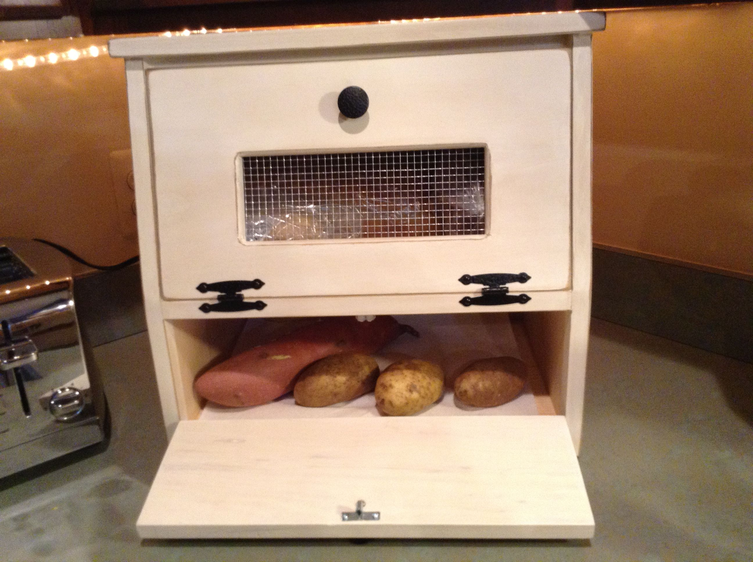 Bread Box Vegetable Bin Great For Bread Chips Potatoes Onions