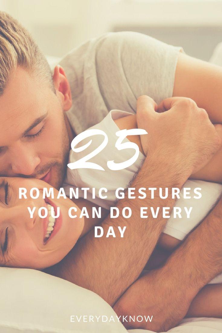 Everyday romantic gestures