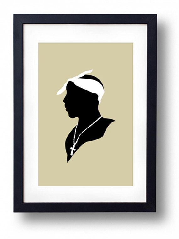 Tupac Shakur Victorian Silhouette Art Print Tupac Art Silhouette Art Black Art Pictures