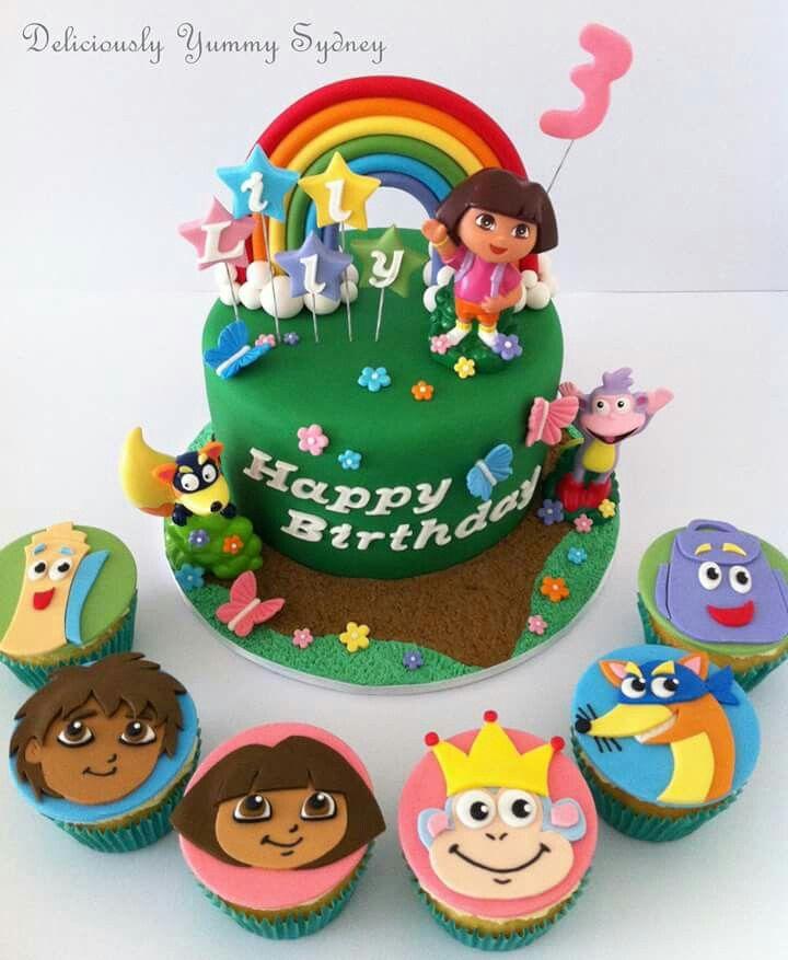 Superb Dora Cake Dora Cake Dora Birthday Cake Birthday Cake Kids Birthday Cards Printable Benkemecafe Filternl