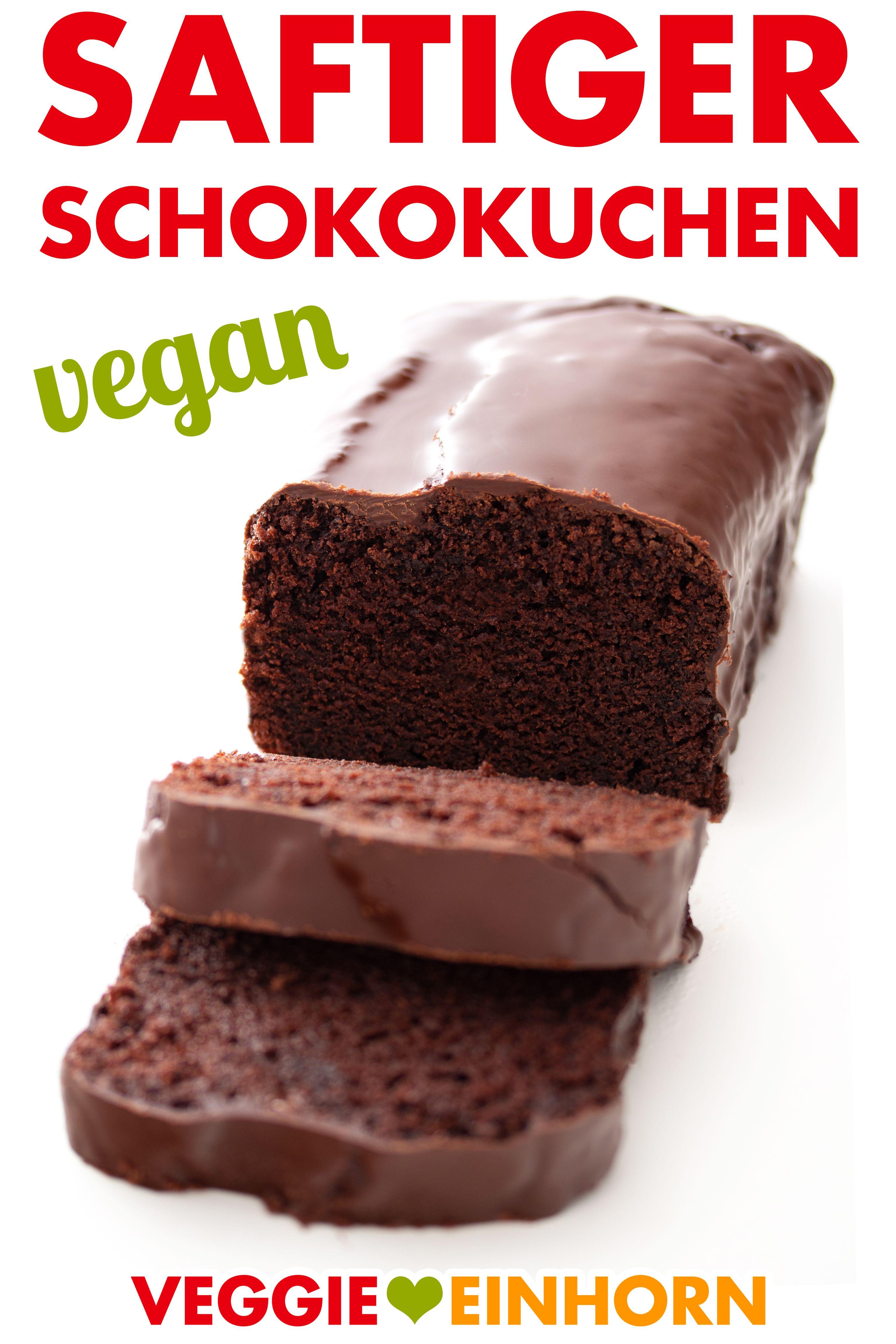 Saftiger veganer Schokokuchen ▶ Einfacher veganer Kuchen