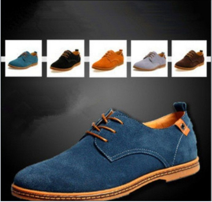 NEW 2014 Suede European style leather Shoes Men's oxfords Casual 11 Size  Fashion.