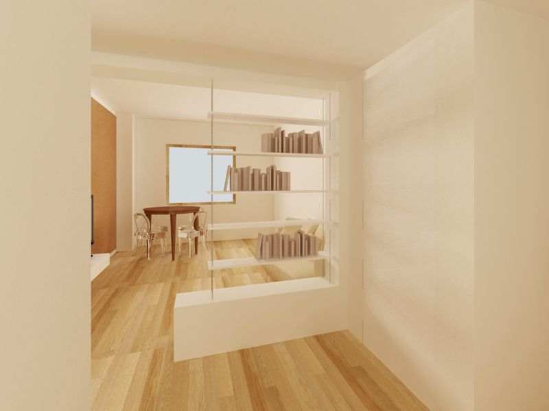 Creare ingresso in soggiorno cerca con google ingresso for Mobili divisori design