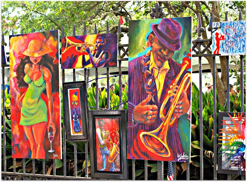 Artists Display Their Work On The Fence Surrounding Jackson Square In Nola My Vacation To New Orleans Louisiana