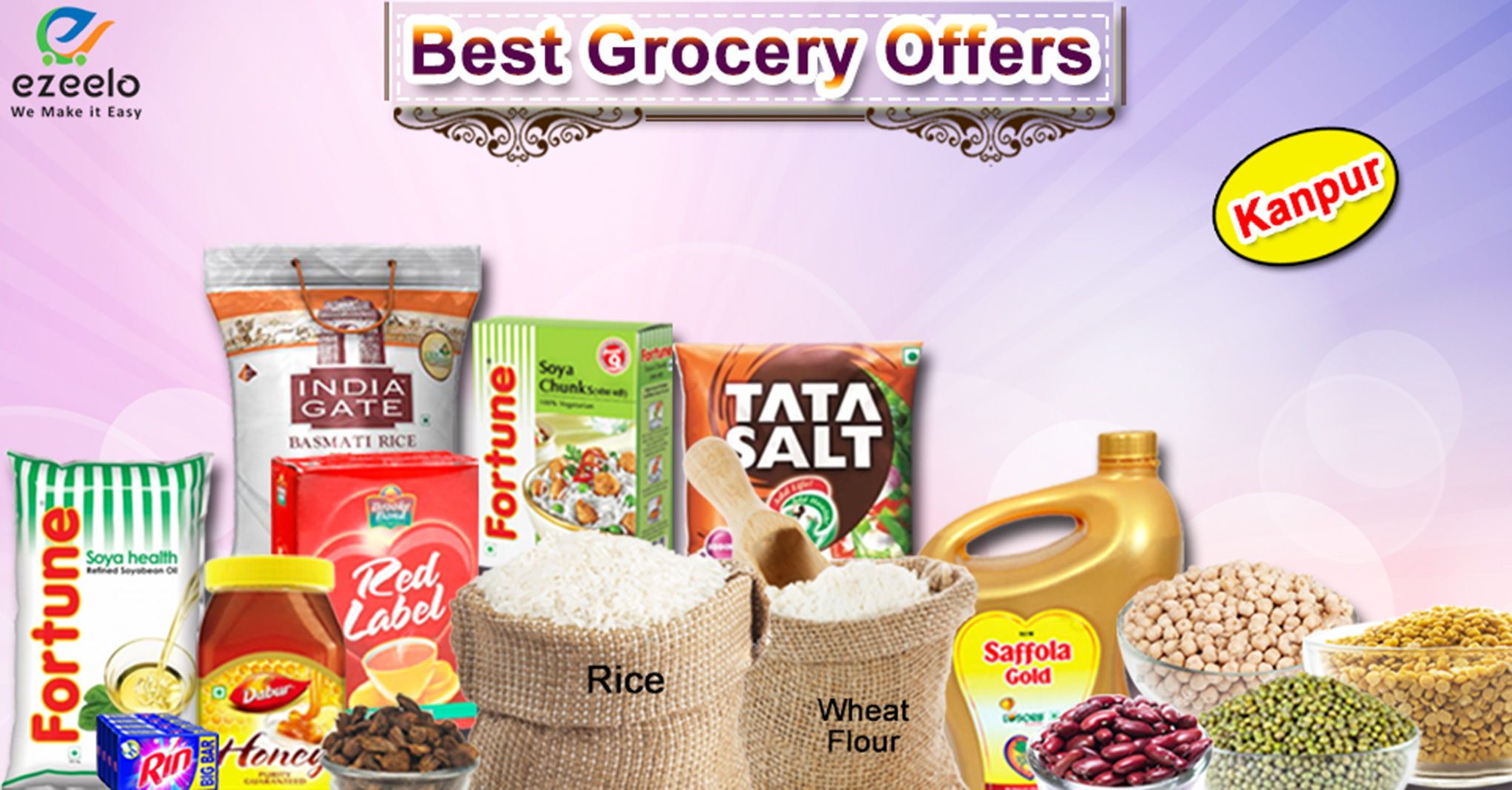 ezeelo offer huge Discount & saving on all Grocery (Kirana