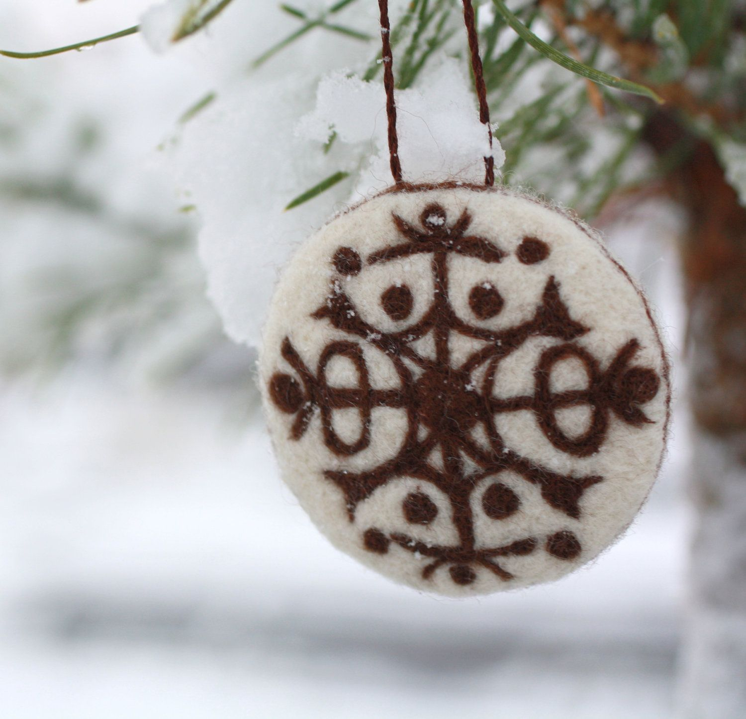 Christmas Ornament  Needle Felted Ornament  Home Decor