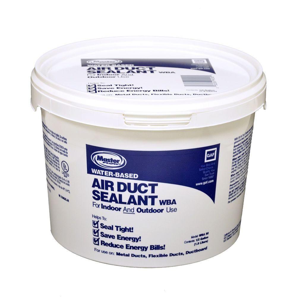Master Flow Water Based Mastic Half Gallon Tub Wba50 Air Duct Duct Sealant