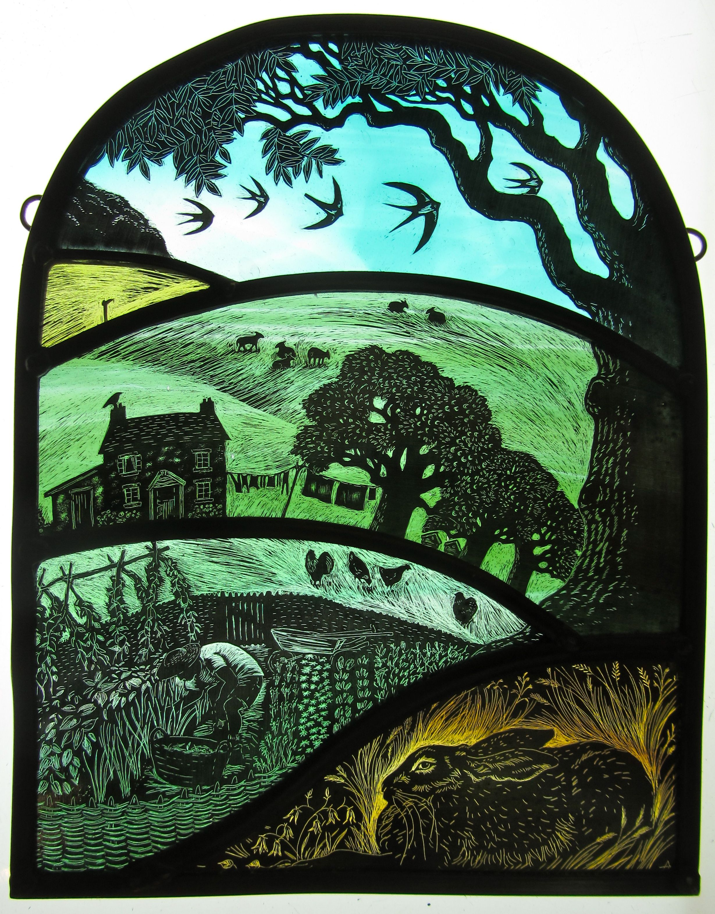 Tamsin Abbott Crafthfd Faux Stained Glass Stained Glass Art