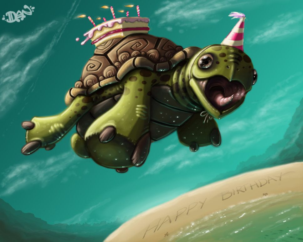 Happy Birthday With Images Turtles Funny Turtle Turtle Birthday