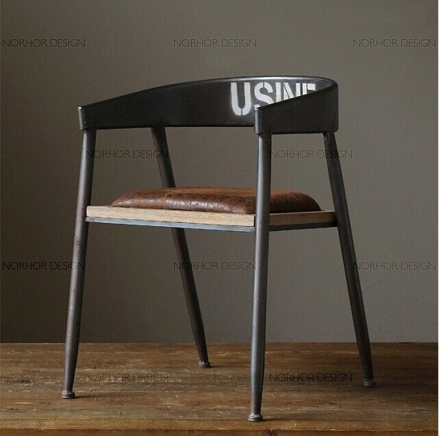 Vintage American Country To Do The Old Wrought Iron Chairs And Leisure  Office Chairs Wood Bar
