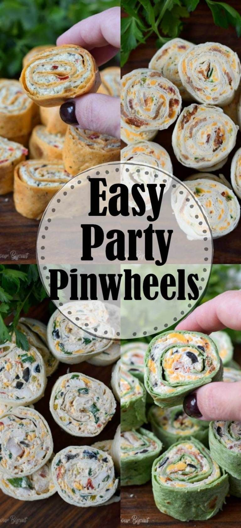 Party Pinwheels Appetizers Recipe- Butter Your Biscuit