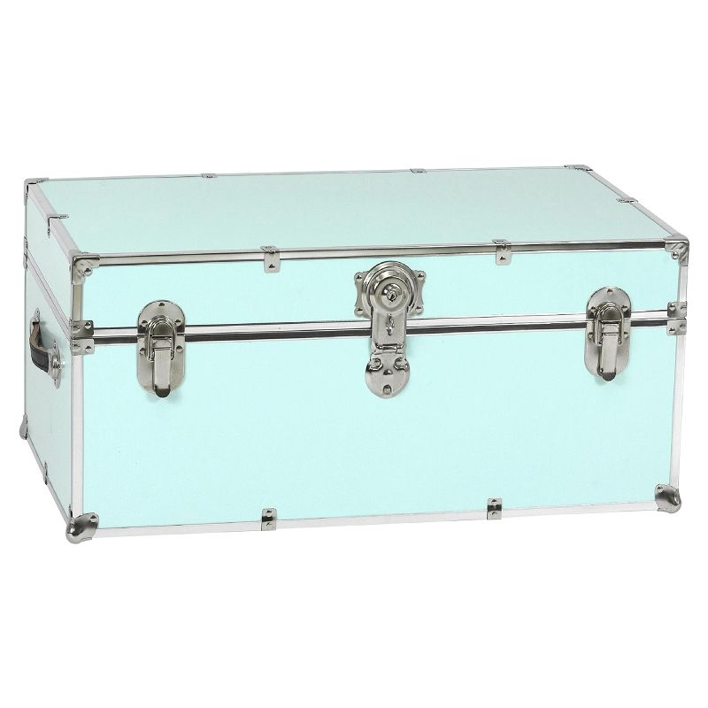 Merveilleux Stanley Case Works Large Light Blue Steel Storage Trunk For Storing Stuff  At Home, Boarding School, College, Camp, Office, Or To Create Retail  Displays.