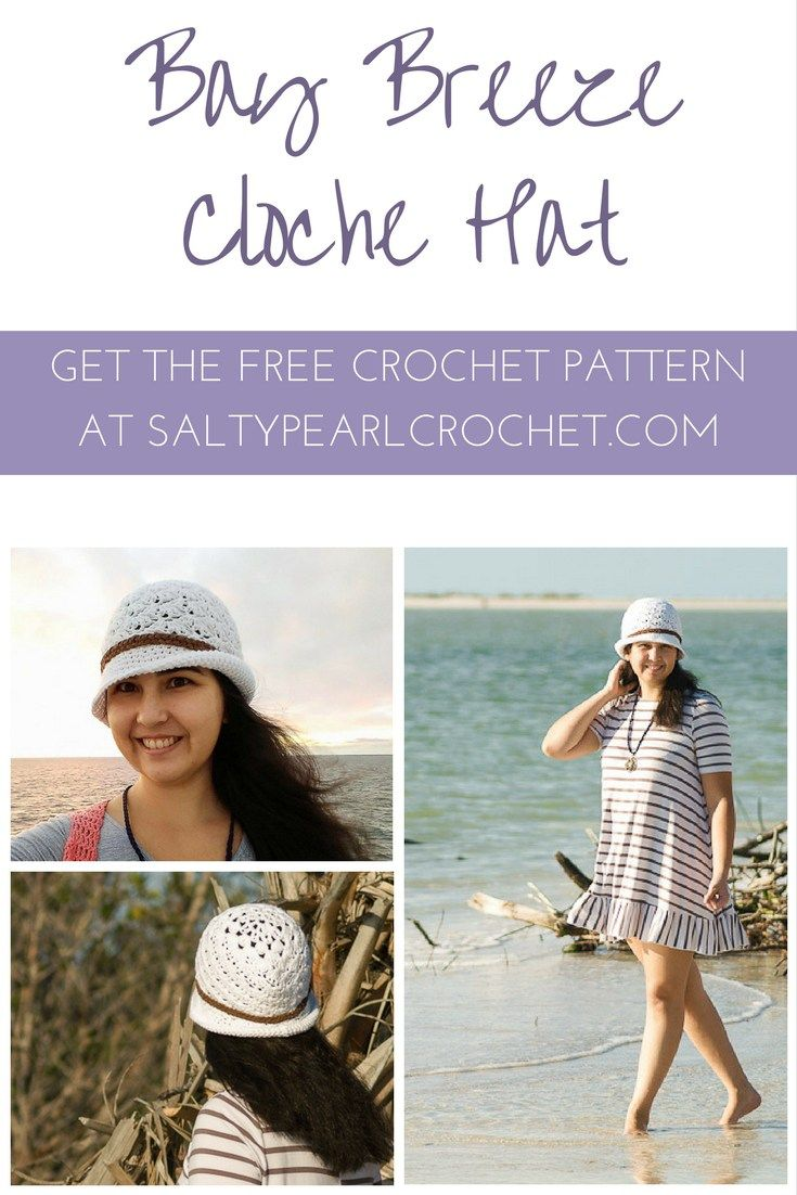 Get the free Bay Breeze Cloche hat pattern on SaltyPearlCrochet.com ...