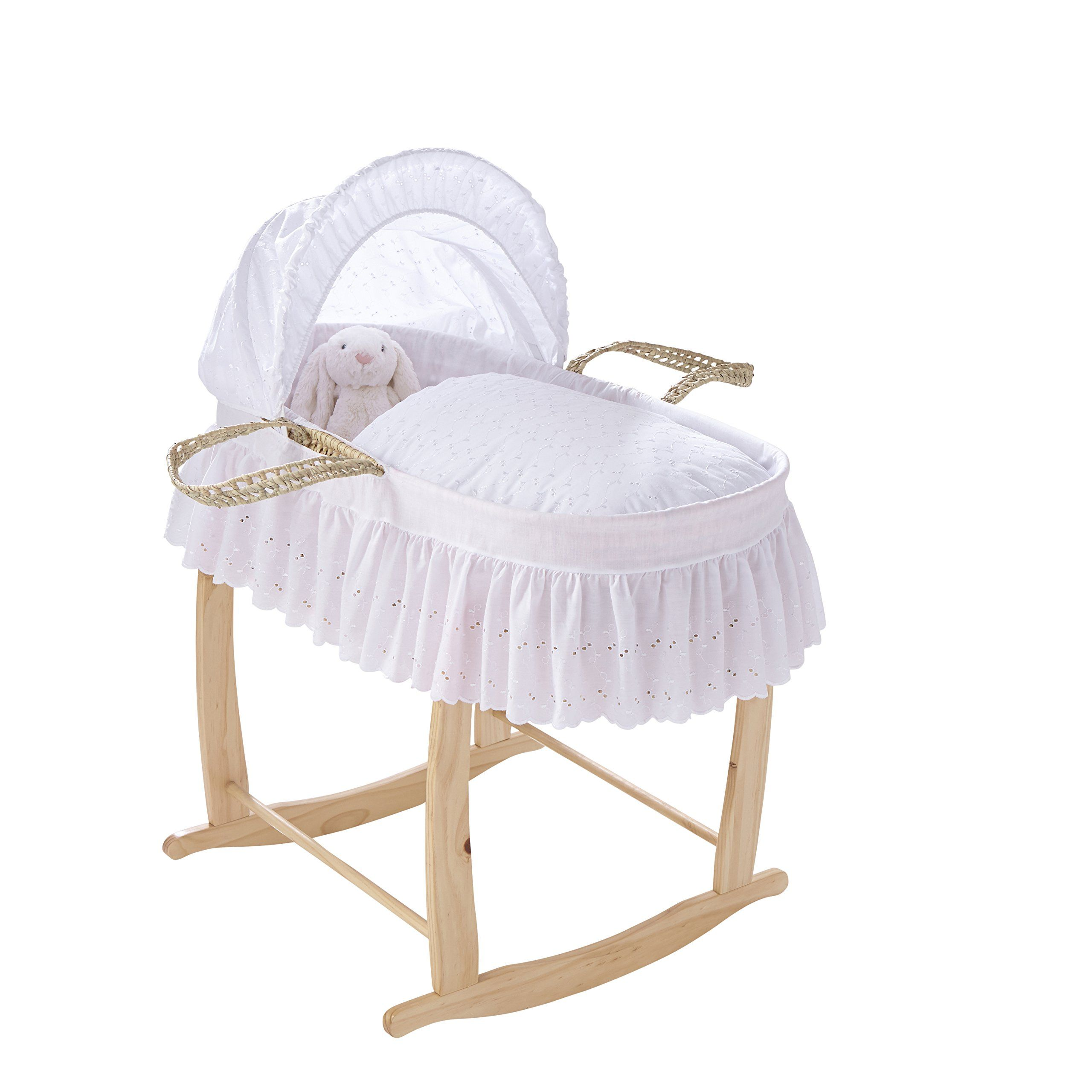 Clair de Lune Pure White Chic Broderie Anglaise Palm Moses