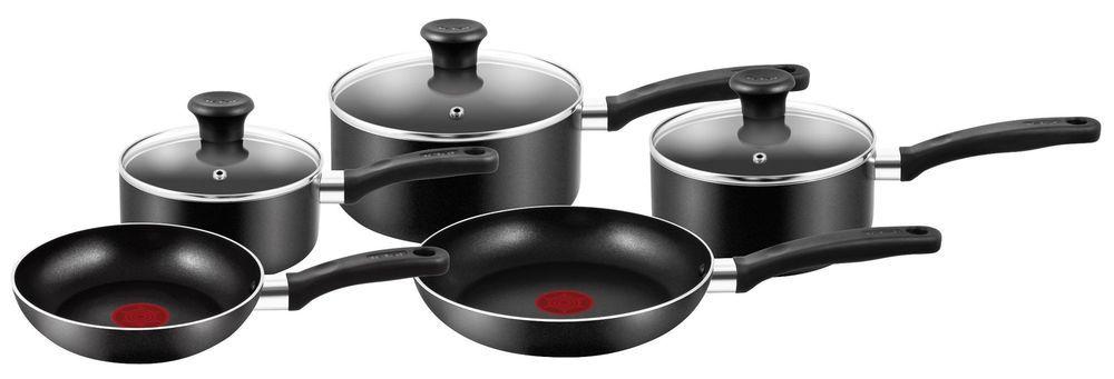 Details About Frying Pot And Pans Black Set Tefal Essential