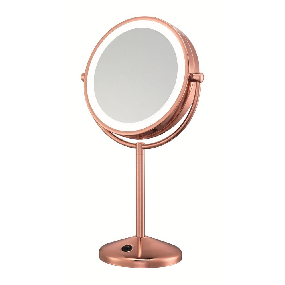 Conair Led Makeup Mirror 1x 10x Magnification Rose Gold Led Makeup Mirror Mirror With Lights Makeup Mirror With Lights