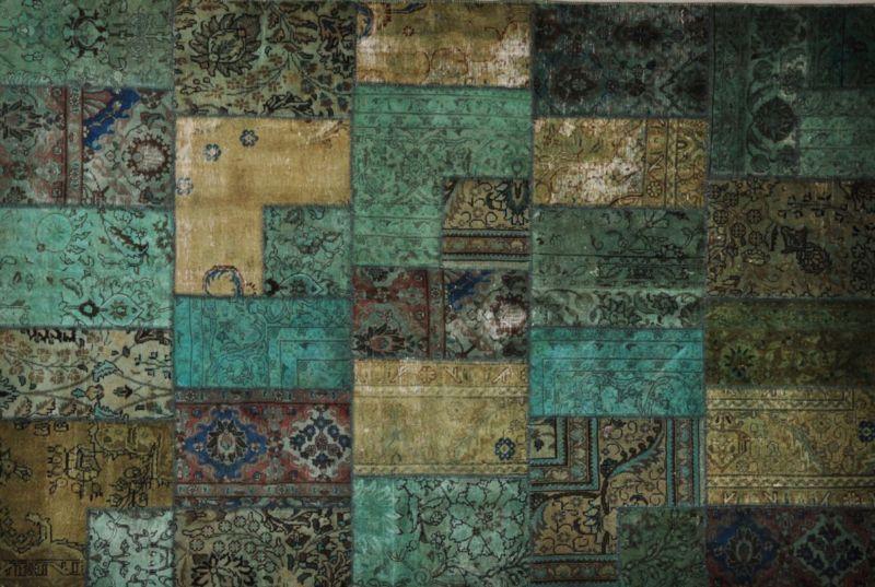 Patchwork Perzisch Tapijt.Patchwork Collectie Perzische Tapijten Nowrozy Perzische