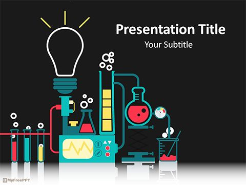free science laboratory powerpoint template ภาล น ก อแก ว