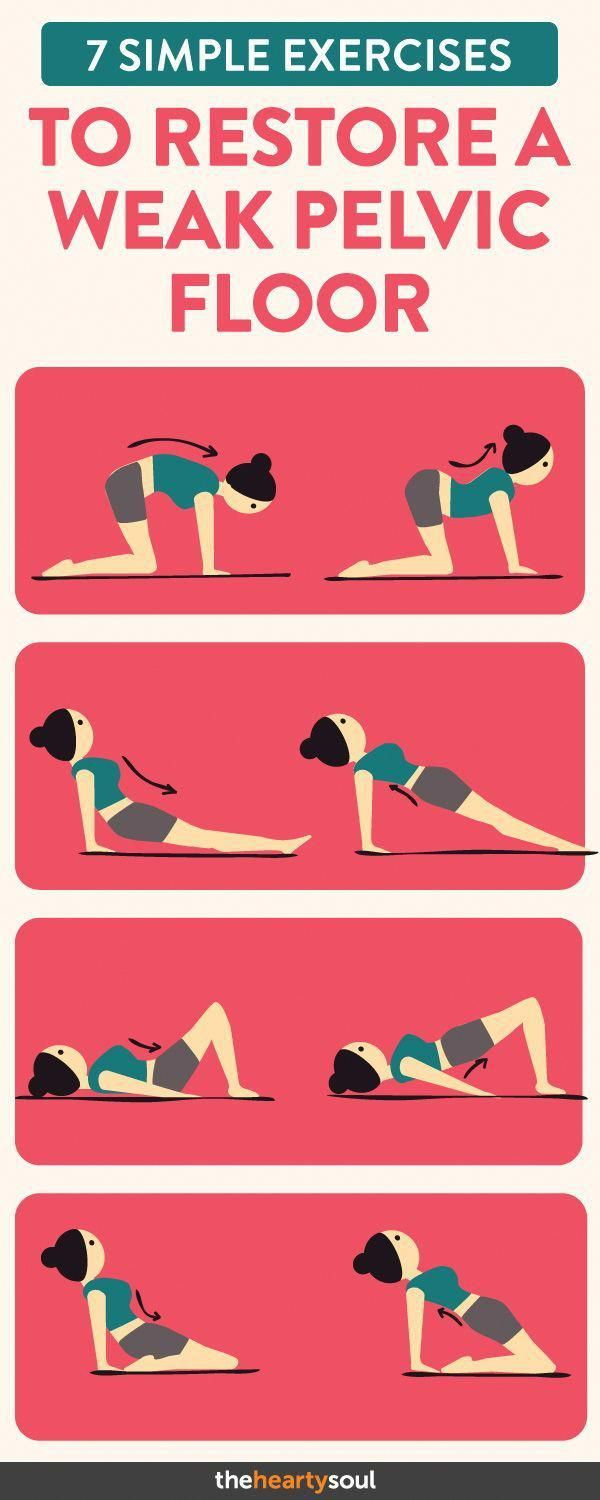 Strengthen your pelvic floor muscles with these simple exercises! #womensworkout #womenshealth #fitn...