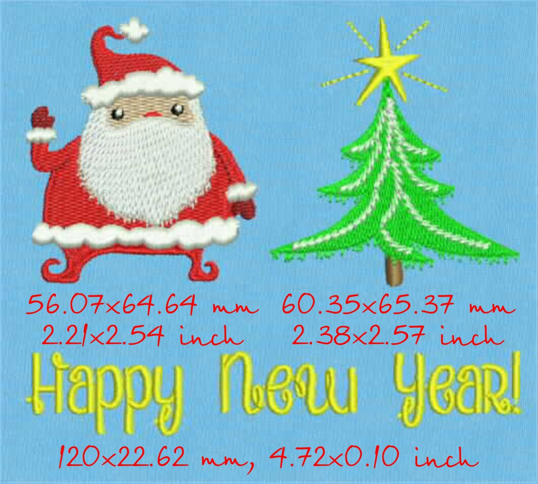 Машинной вышивки новый год