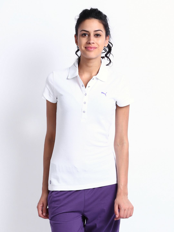 Buy puma women white polo t shirt 2 apparel for women