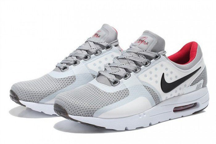 Authentic Nike Shoes For Sale Mens Nike Air Max Zero 87 Neutral Grey White  Red Black -