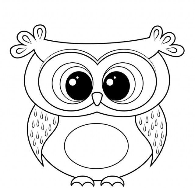 Dessin Hibou A Imprimer Et Bricolage Chouette Pour Enfants