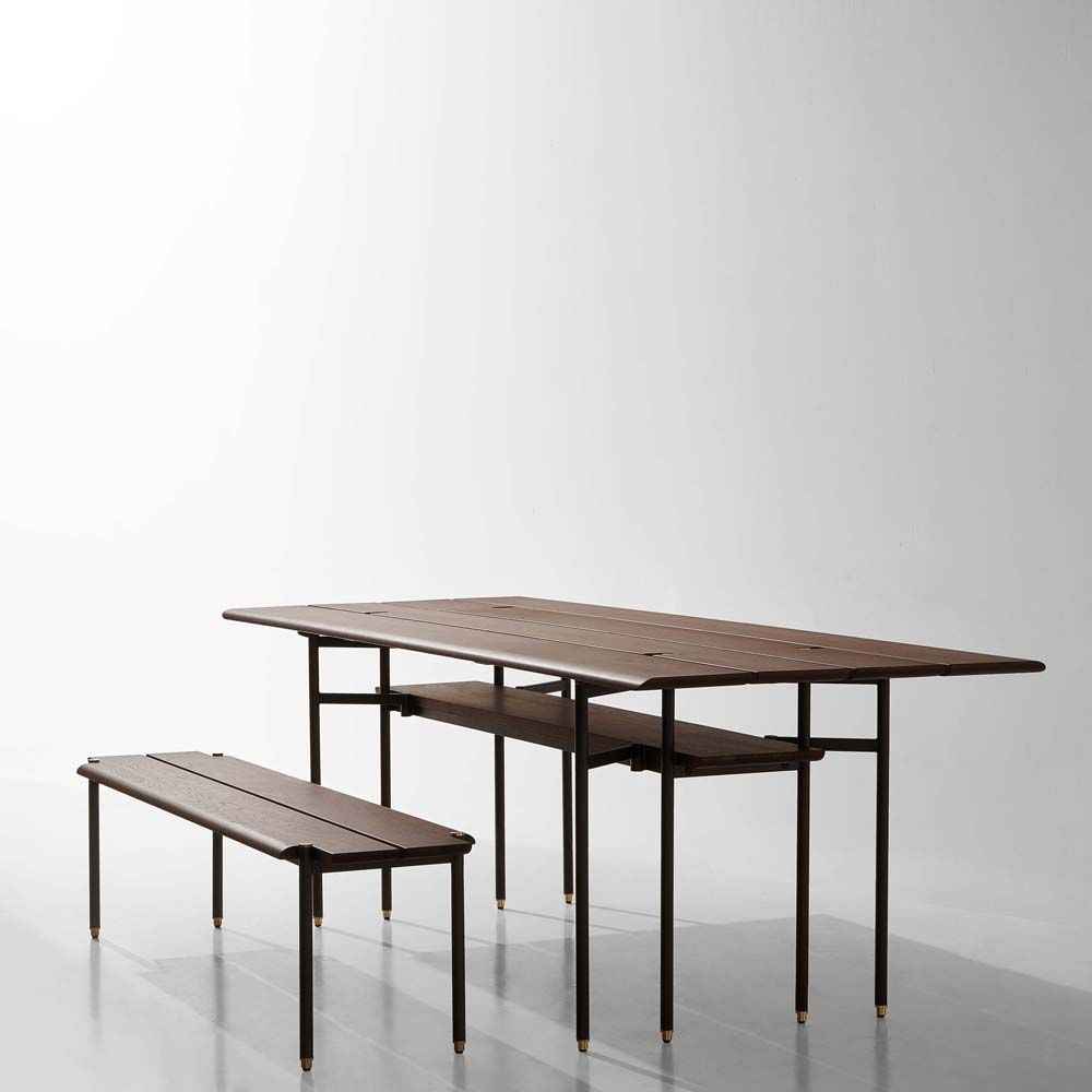H H Studio Dubai Stacking Bench Drop Leaf By District Eight