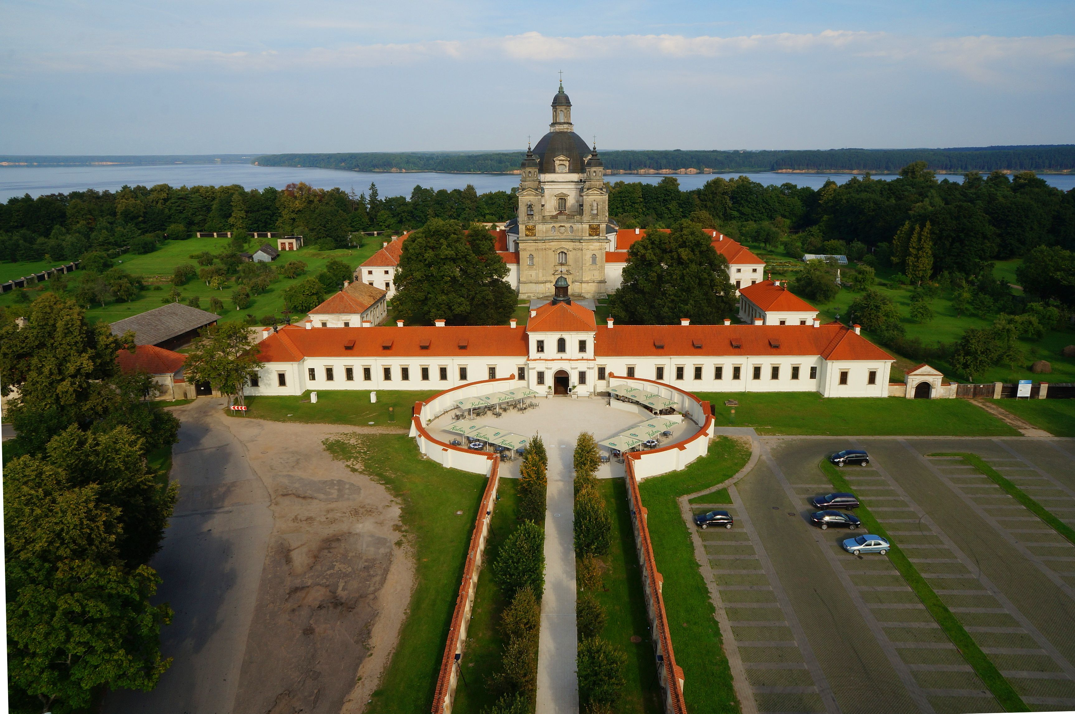 Pazaislis Monastery On The Shore Of The Largest Lithuanian Artificial Lake Is A Must Do Have A Great Artificial Lake Ferry Building San Francisco Great Walks