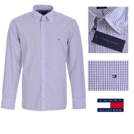 9f96c2139270d Camisa de cuadros para hombre de Tommy Hilfiger en color azul y blanco.  Ajuste  Custom Fit. Composición   100% Algodón. Entrega en 24 48 horas.