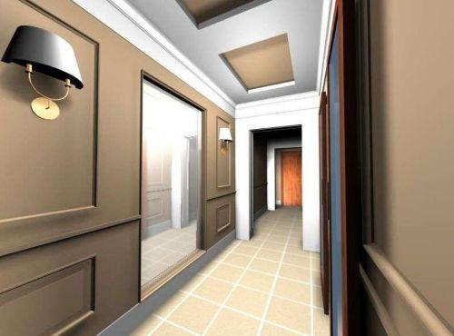 peinture couloir moderne carrelage au sol | Couloir et entrée ...