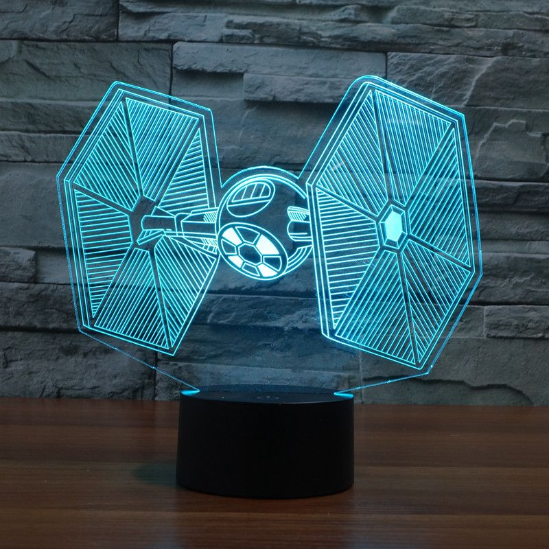 Star Wars Tie Fighter 3d Usb Led Night Light Star Wars Lamp Led Night Light 3d Led Lamp