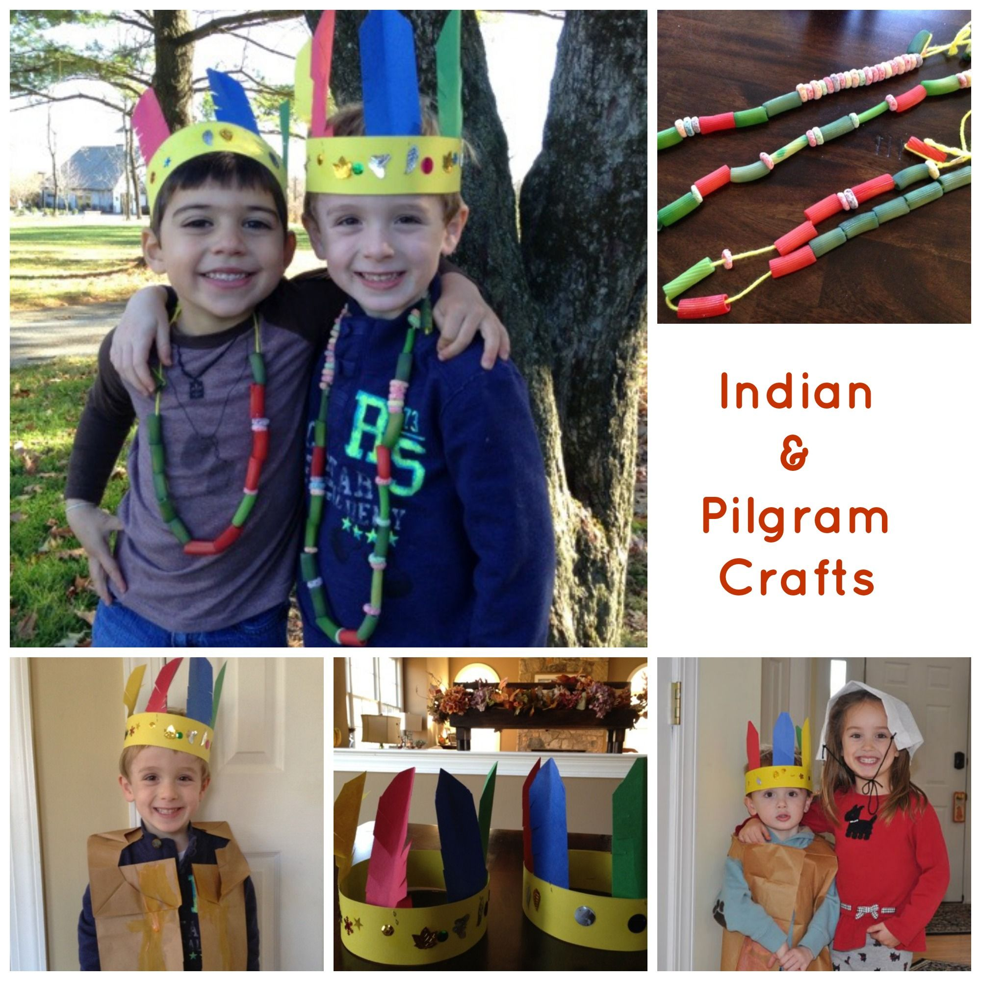 Easy Homemade Indian And Pilgrim Crafts For Kids