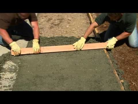 How To Pour And Finish Concrete Home Depot Video Concrete Slab
