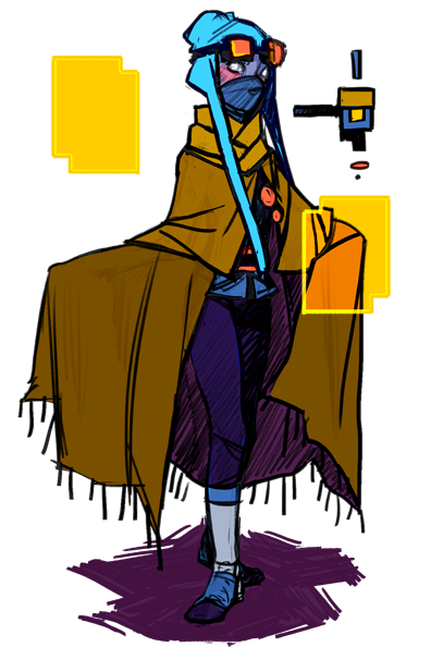 """yokaiy: """" Updated my Librarian design in light of some game sprite"""