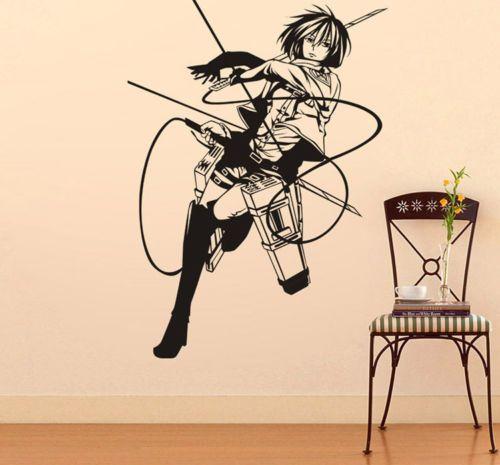 Luxury Details zu Shingeki no Kyojin Attack on Titan Anime Wandtattoo Wandaufkleber Wandsticker