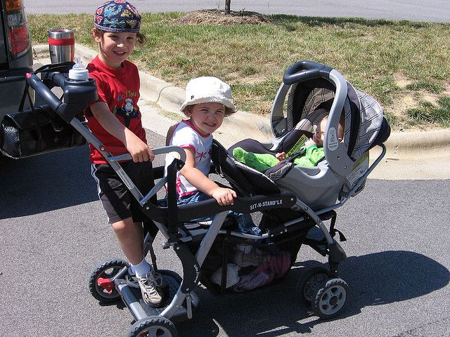 Most triple strollers are made for three kids the same age