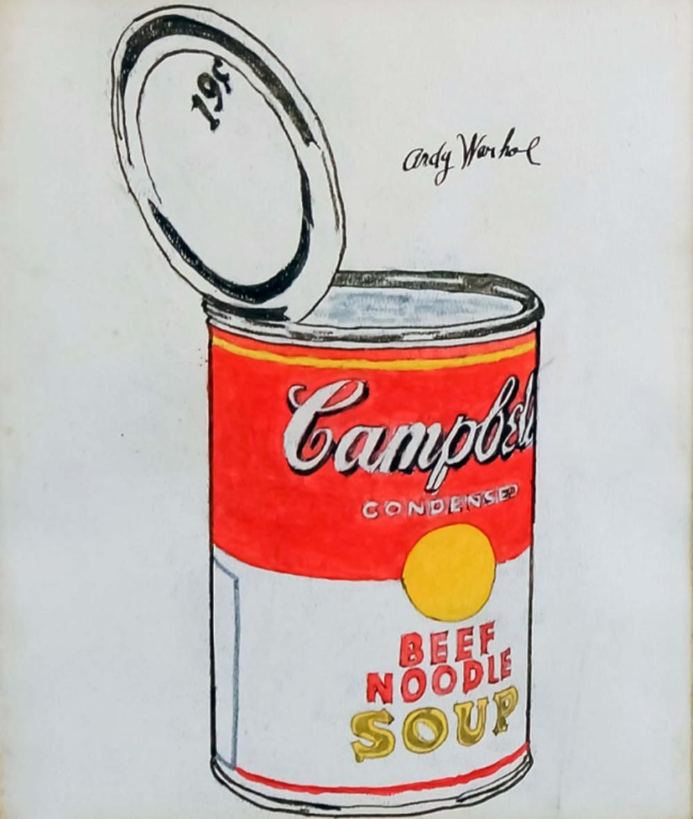 Sold Price Andy Warhol Campbell S Soup Can Watercolor C 1960 May 3 0119 5 00 Pm Edt Campbell S Soup Cans Andy Warhol Campbell Soup