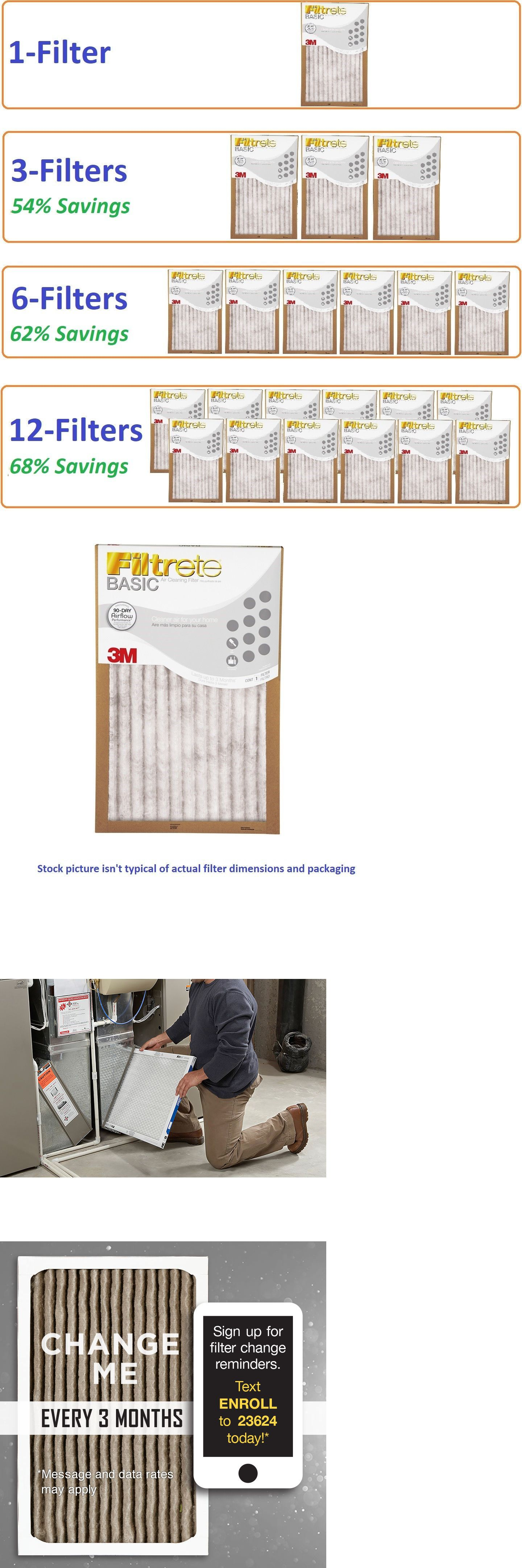 Details about Filtrete AirFilter Basic Pleated Furnace