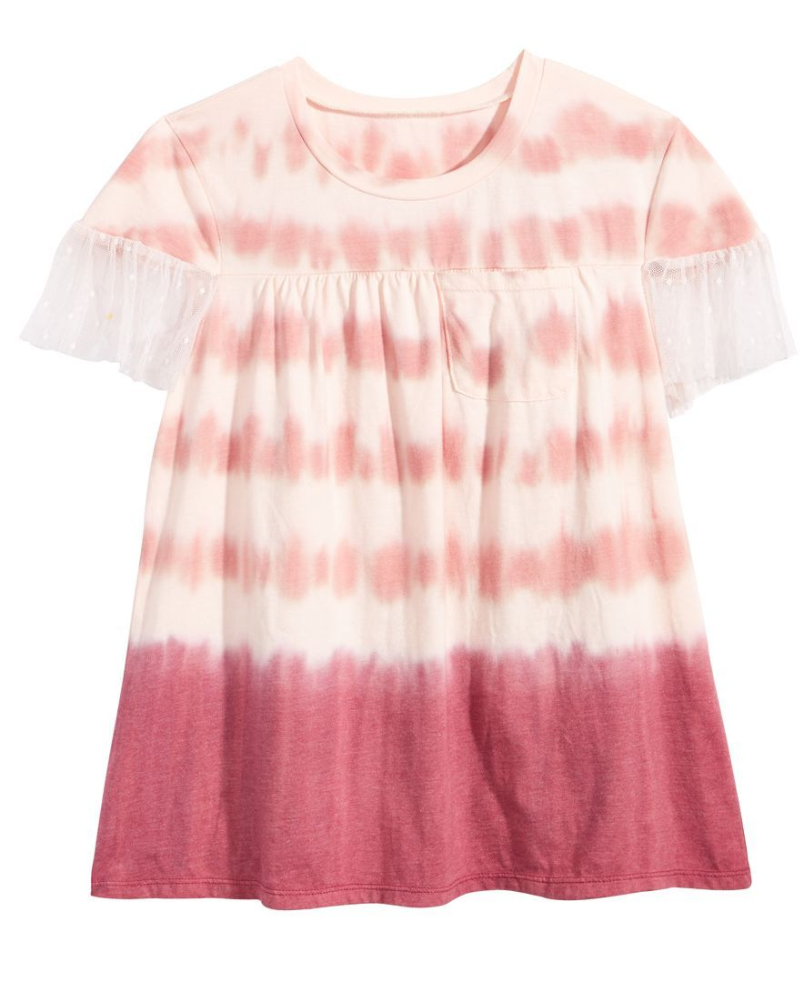 3143a7a2 Mesh sleeves add a touch of dressy appeal to this boho-chic T-shirt by Kandy  Kiss. | Cotton/polyester/nylon/spandex | Machine washable | Imported | Crew  ...