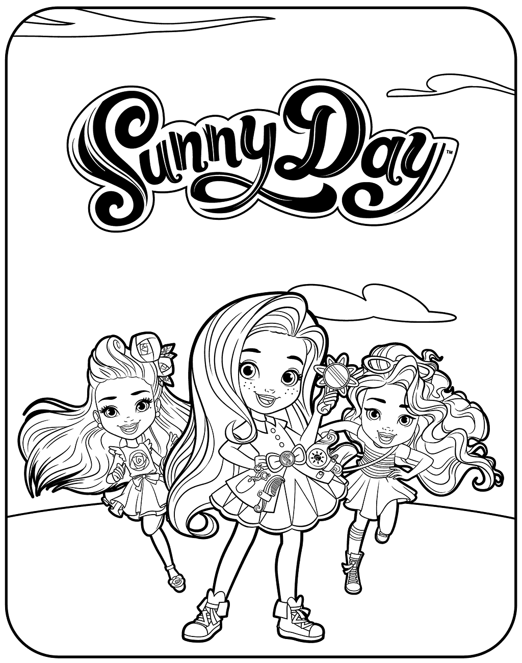 Nickelodeon Sunny Day Coloring Pages
