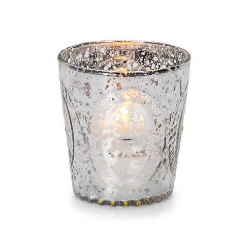 David Tutera™ Illusion Embossed Votive Holders - Silver   candles ...