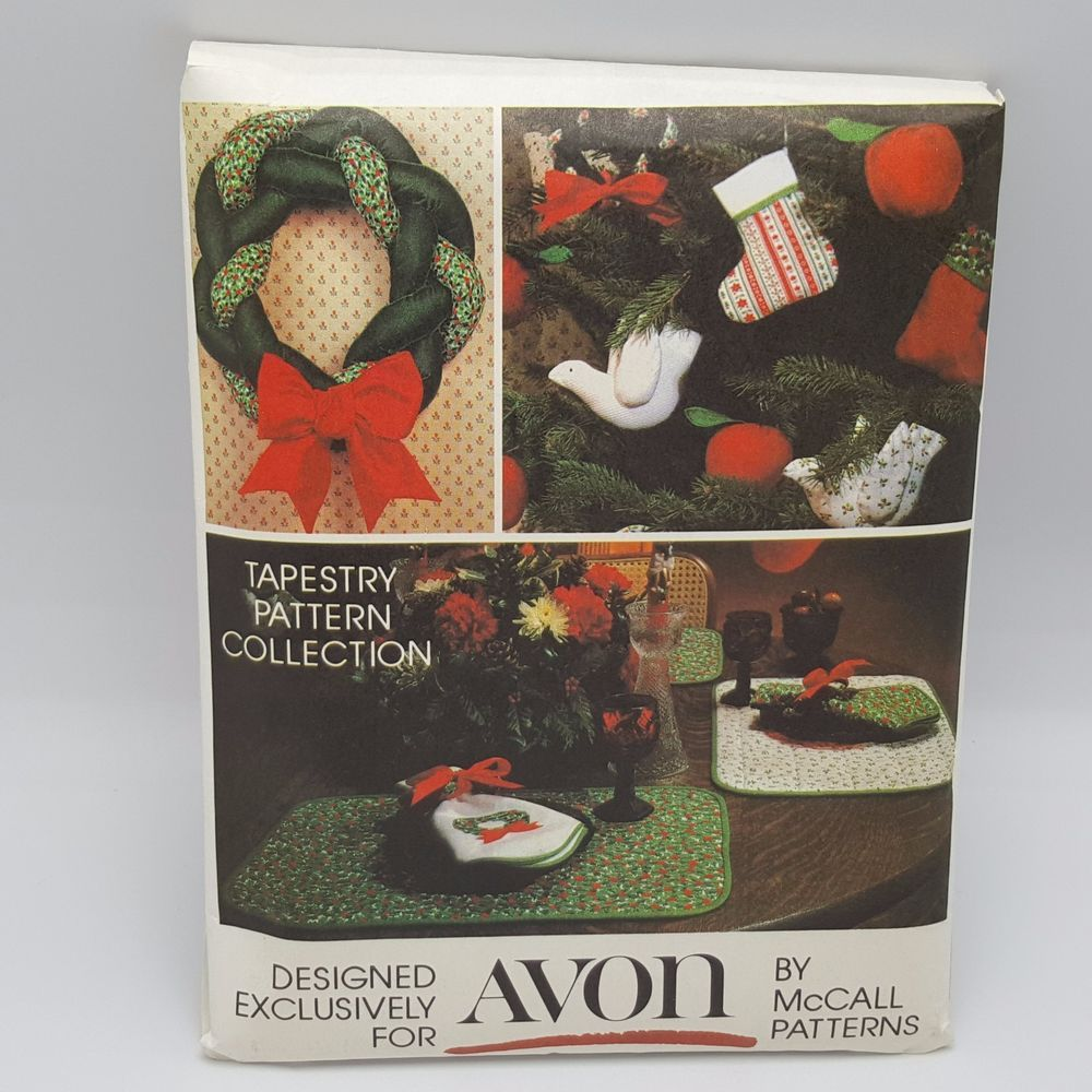 Avon McCalls Christmas 10 Crafts Sewing Pattern Stocking Runner Country  Uncut #McCalls